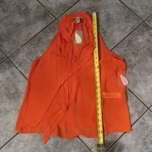 (2/$20) NWT F21 red chiffon blouse size small